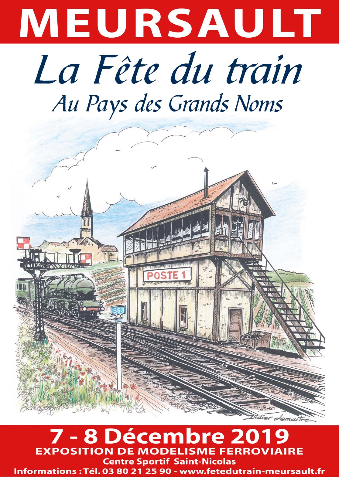 Fete train affiche 2019 exposants
